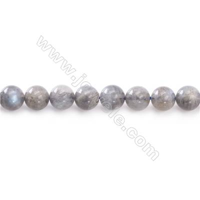 Natural Labradorite Beads Strand  Round  Diameter 8mm  hole 1mm  about 48 beads/strand 15~16""
