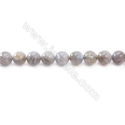 Natural Labradorite Beads Strand  Round  Diameter 10mm  hole 1mm  about 40 beads/strand 15~16""