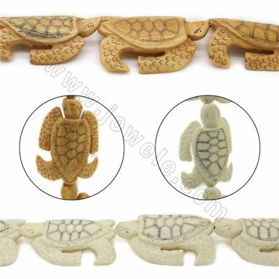 Handmade Carved Ox Bone Beads Strands, Tortoise, Size 46x63mm, Hole 1mm, 7 beads/strand