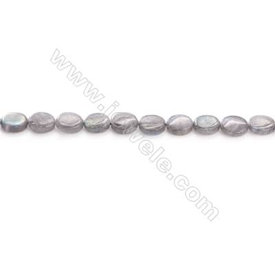 Natural Labradorite Beads Strand  Oval  Size 8x10mm  hole 1mm  about 36 beads/strand 15~16""