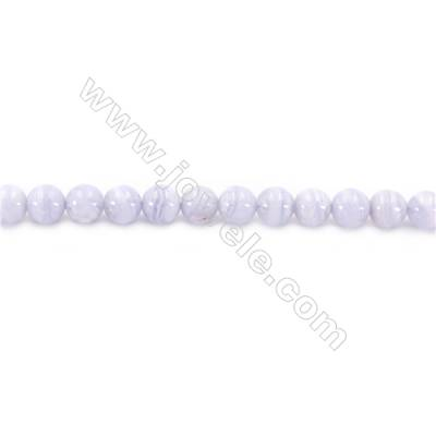 Natural Blue Lace Agate Beads Strand  Round  Diameter 6mm  Hole 1mm  about 73 beads/strand 15~16""
