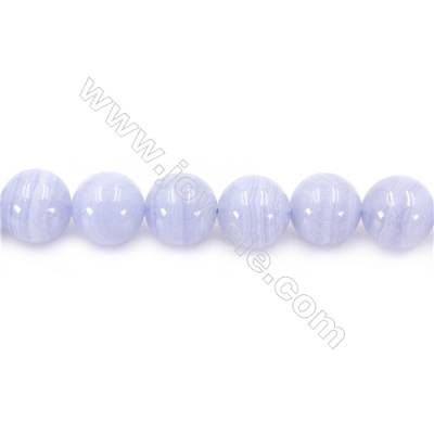 Natural Blue Lace Agate Beads Strand  Round   Diameter 12mm  Hole 1.5mm  about 34 beads/strand 15~16""