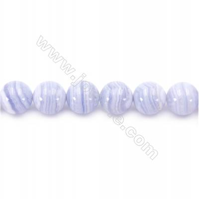 Natural Blue Lace Agate Beads Strand  Round   Diameter 14mm  Hole 1mm  about 14 beads/strand 15~16""