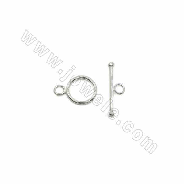 925 sterling silver round toggle clasps, 13mm, x 15 pcs, DIY bracelet choker necklace jewelry making findings