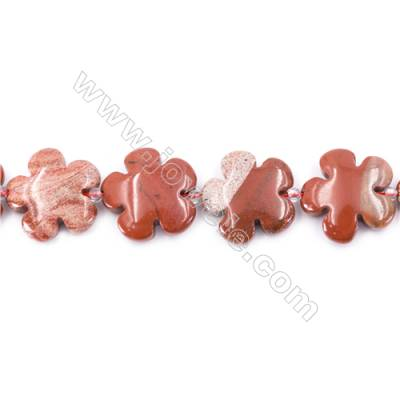 Natural Red Jasper Beads Strand  Flower  Size 20x20mm   hole 1mm   about 20 beads/strand 15~16''