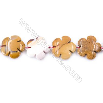Natural Mookaite Beads Strand  Flower  Size 20x20mm  hole 1mm  about 20 beads/strand 15~16''