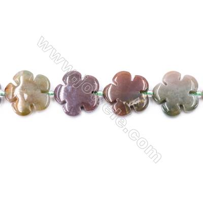 Moss Agate Beads Strand  Flower  Size 20x20mm   hole 1mm   about 20 beads/strand 15~16''