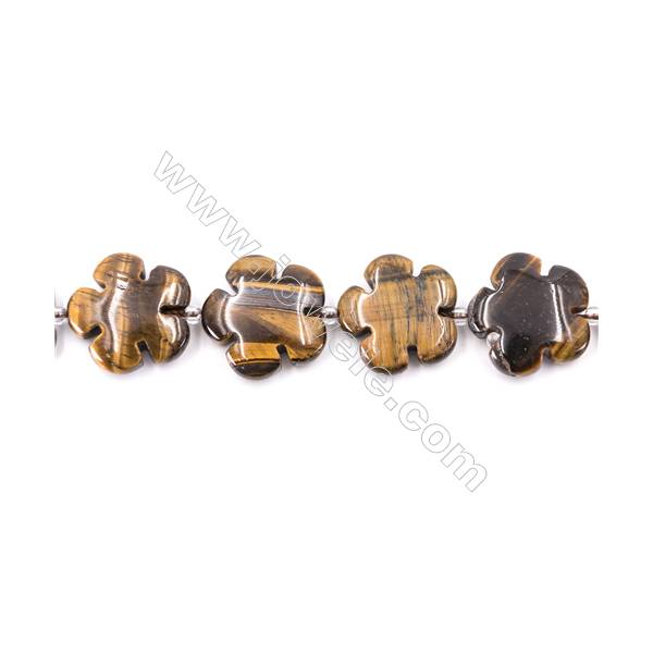 Tiger Eye Beads Strand  Flower  Size 20x20mm   hole 1mm   about 20 beads/strand 15~16''