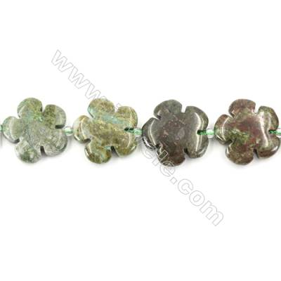Natural Unakite Beads Strand  Flower  Size 20x20mm   hole 1mm   about 20 beads/strand 15~16''