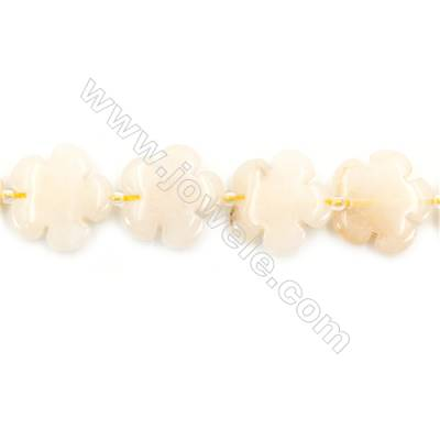 Natural Yellow Jade Beads Strand  Flower  Size 20x20mm  hole 1mm  about 20 beads/strand 15~16""