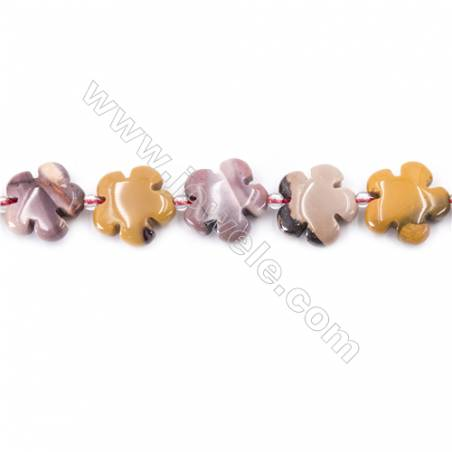 Natural Mookaite Beads Strand  Flower  Size 15x15mm  hole 1.5mm  about 27 beads/strand 15~16''