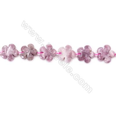 Natural Stone Violet Lilac Jasper Beads Strand  Flower  Size 15x15mm  hole 1.5mm  about 27 beads/strand 15~16''