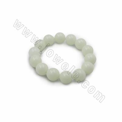 Synthetic Luminous Stone Beads Bracelets, Luminous green, Bead size 8mm, Ring diameter 58mm, 24 beads /strand