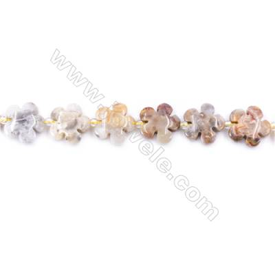 Crazy Lace Agate Beads Strand  Flower  Size 15x15mm  hole 1.5mm  about 27 beads/strand 15~16''