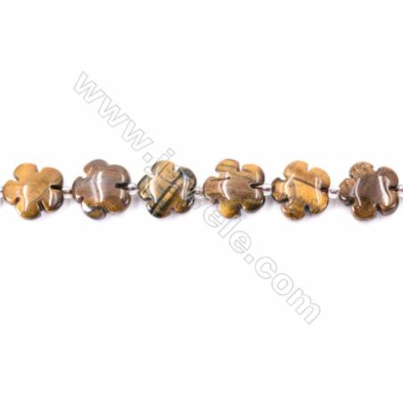 Tiger Eye Beads Strand  Flower  Size 15x15mm   hole 1.5mm   about 27 beads/strand 15~16''