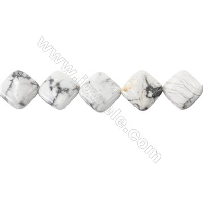 White Howlite Beads Strand  Rhombus Size 18x18mm  hole 1mm  about 23 beads/strand 15~16''