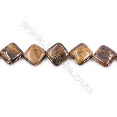 Tiger Eye Beads Strand  Rhombus  Size 18x18mm   hole 1mm   about 23 beads/strand 15~16''