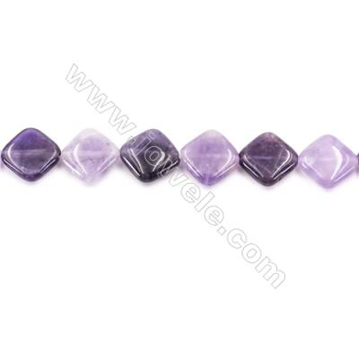 Natural Amethyst Beads Strand  Rhombus  Size 18x18mm  hole 1mm  about 22 beads/strand 15~16""