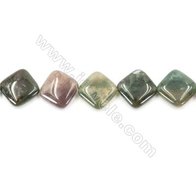 Natural Fancy Indian Agate Beads Strand  Rhombus  Size 18x18mm   hole 1mm   about 23 beads/strand 15~16""