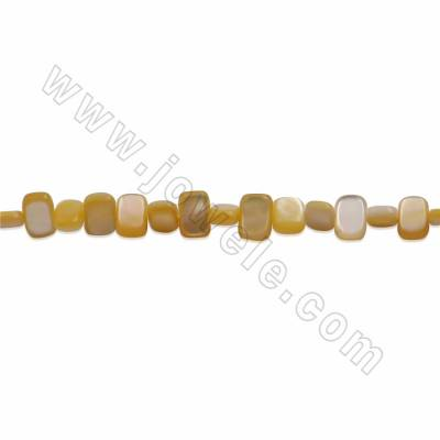 Natural Mother-of-pearl Shell Beads Strands, Cube, Size 5x7mm, Hole about 0.8mm, 15~16''/ strand