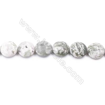 Natural Sepiolite Beads Strand  Flat Round  Diameter 20mm   hole 1mm   about 20 beads/strand 15~16''