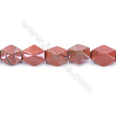 Natural Red Jasper Beads Strand  Faceted Cuboid  Size 20x18x13mm  hole 1.5mm  about 22 beads/strand 15~16''