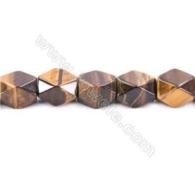 Tiger Eye Beads Strand  Faceted Cuboid  Size 20x18x13mm   hole 1.5mm   about 22 beads/strand 15~16''