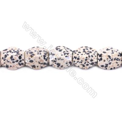 Natural Dalmatian Jasper Beads Faceted Cuboid  Size 20x18x13mm  hole 1.5mm  about 22 beads/strand 15~16""