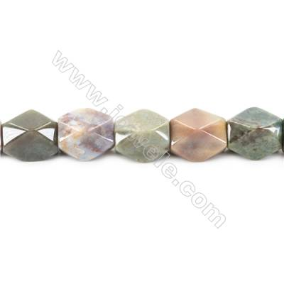 Natural Fancy Indian Agate Beads Strand  Faceted Cuboid  Size 20x18x13mm   hole 1.5mm   about 22 beads/strand 15~16""