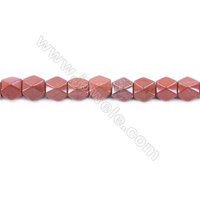 Natural Red Jasper Beads Strand  Faceted Cuboid  Size 11x9x9mm  hole 1.5mm  about 37 beads/strand 15~16''