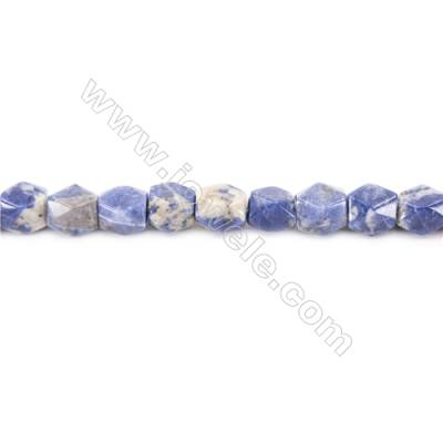 Natural Sodalite Beads Strand  Faceted Cuboid  Size 11x9x9mm  Hole 1.5mm  about 36 beads/strand  15~16""