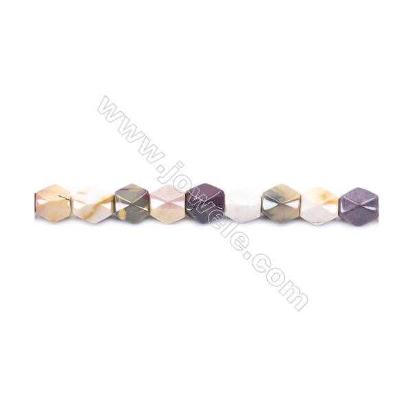 Natural Mookaite Beads Strand  Faceted Cuboid  Size 11x9x9mm  hole 1.5mm  about 35 beads/strand 15~16''