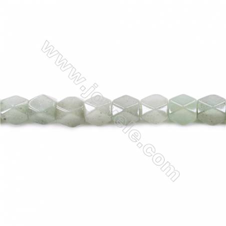 """Natural Stone Faceted Green Aventurine Beads For Jewelry Making 15/"""" Wholesale"""