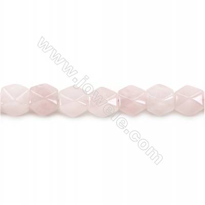 """Natural Rose Quartz Beads Strand  Faceted Cuboid  Size 11x9x9mm  hole 1.5mm  about 36 beads/strand 15~16"""""""