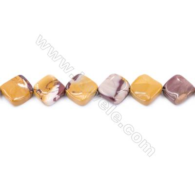 Natural Mookaite Beads Strand Twisted Rhombus  Size 13x13mm  hole 1.5mm  about 21 beads/strand 15~16''