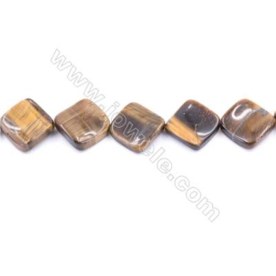 Tiger Eye Beads Strand  Twisted Rhombus  Size 13x13mm   hole 1.5mm   about 21 beads/strand 15~16''
