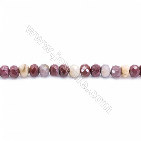 Natural Mookaite Beads Strand  Faceted Abacus  Size 4x6mm  hole 0.7mm  about 93 beads/strand 15~16''