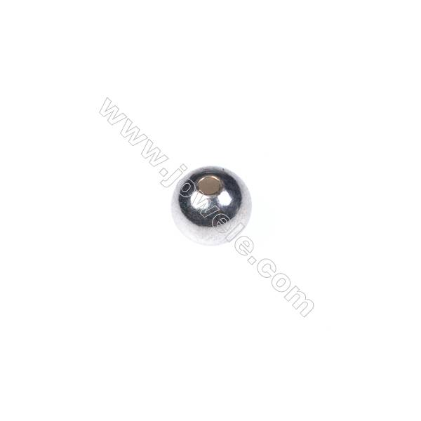 925 Sterling silver beads, 6mm, x 40pcs, hole 2mm