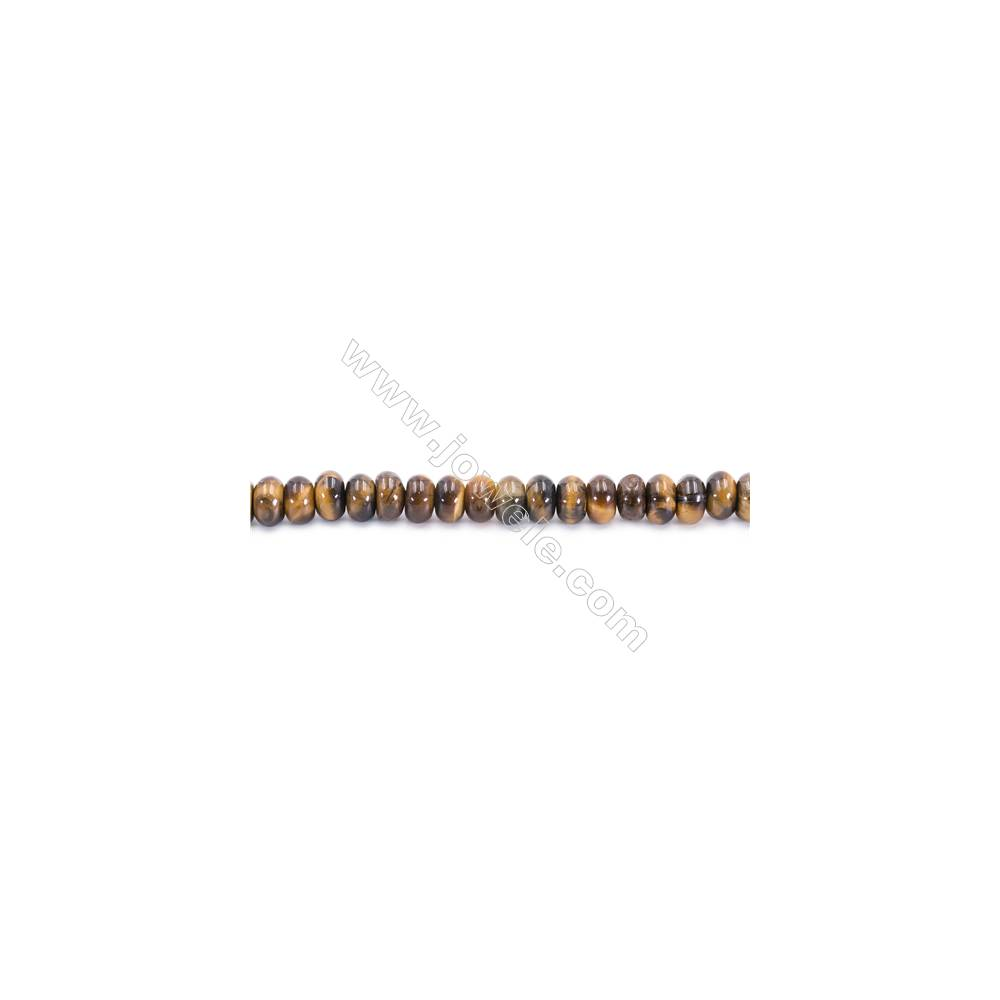 Tiger Eye Beads Strand  Abacus  Size 5x8mm   hole 0.7mm   about 77 beads/strand 15~16''
