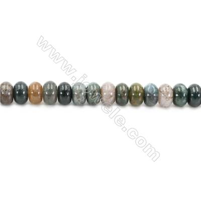 Natural Fancy Indian Agate Beads Strand  Abacus  Size 5x8mm   hole 0.7mm   about 79 beads/strand 15~16""