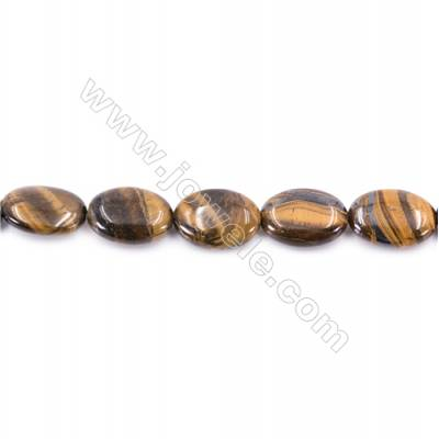 Tiger Eye Beads Strand  Oval  Size 13x18mm   hole 1mm   about 23 beads/strand 15~16''