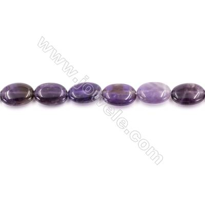 Natural Amethyst Beads Strand  Oval  Size 13x18mm  hole 1mm  about 23 beads/strand 15~16""