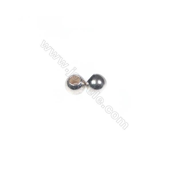 925 sterling silver beads, 2.5 mm, x 200pcs, hole 1.1 mm