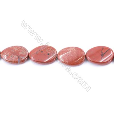 Natural Red Jasper Beads Strand  Twisted Oval  Size 18x25mm  hole 1.5mm  about 16 beads/strand 15~16''