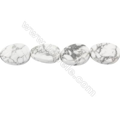 Natural Howlite Beads Strand  Twisted Oval  Size 18x25mm  hole 1.5mm  about 16 beads/strand 15~16""