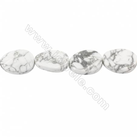 """Natural Howlite Beads Strand  Twisted Oval  Size 18x25mm  hole 1.5mm  about 16 beads/strand 15~16"""""""