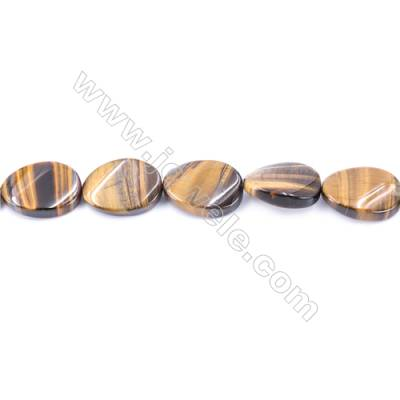 Natural Tiger Eye Beads Strand  Twisted Oval  Size 18x25mm   hole 1.5mm   about 16 beads/strand 15~16''