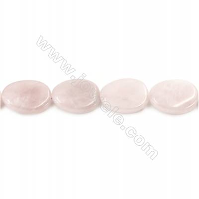 """Natural Rose Quartz Beads Strand  Twisted Oval  Size 18x25mm  hole 1.5mm  about 16 beads/strand 15~16"""""""