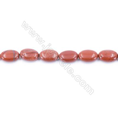 Natural Red Jasper Beads Strand  Oval  Size 10x14mm  hole 1mm  about 30 beads/strand 15~16''