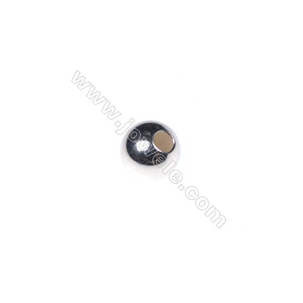 925 Sterling silver round beads, 6mm, x 50pcs, hole 2mm